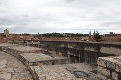 Ansicht von Nimes von Roman Amphitheater, Frankreich Lizenzfreies Stockbild