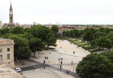 Ansicht von Nimes von Roman Amphitheater in Frankreich Stockfoto