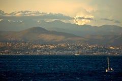 Ansicht von Nizza, Frankreich. Lizenzfreies Stockfoto