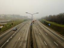 Ansicht von oben genanntem der Landstraße Lizenzfreie Stockfotografie