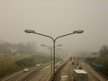 Ansicht von oben genanntem der Landstraße Stockfotografie