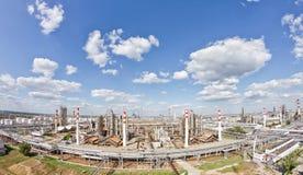 Ansicht von oben genanntem des Gebiets besetzt durch die Raffinerie Lizenzfreie Stockfotografie