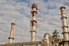Ansicht von oben genanntem des Gebiets besetzt durch die Raffinerie Lizenzfreie Stockfotos
