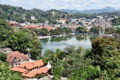 Ansicht von oben genanntem von Kandy Stockfotos