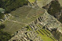 Ansicht von oben genanntem zum Machu-Picchu stockbild