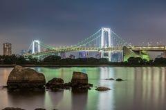 Ansicht von Odaiba-Insel, Tokyo, Japan Lizenzfreies Stockfoto