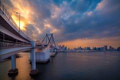 Ansicht von Odaiba-Insel, Tokyo, Japan Stockfoto