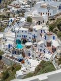 Ansicht von Oia im santorini Lizenzfreie Stockfotos