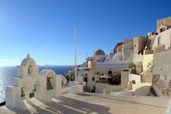 Ansicht von Oia, Santorini Stockbild