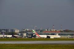 Ansicht von Okecie-Flughafen in Warschau Lizenzfreie Stockfotografie