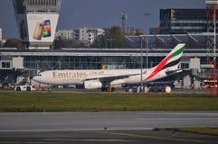 Ansicht von Okecie-Flughafen in Warschau Stockfotos