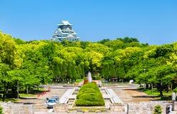 Ansicht von Osaka Castle Park in Japan Lizenzfreies Stockfoto