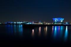 Ansicht von Osanbashi-Pier nachts in Yokohama Japan Lizenzfreie Stockfotografie