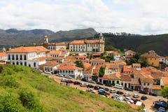 Ansicht von Ouro Preto, Brasilien stockbild