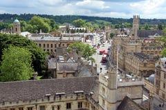 Ansicht von Oxford von oben Lizenzfreie Stockfotografie