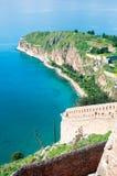 Ansicht von Palamidi-Schloss in Nafplio stockfotografie