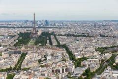 Ansicht von Paris mit Eiffelturm von Montparnasse-Gebäude stockbilder