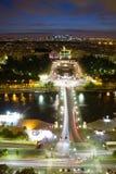 Ansicht von Paris nachts Stockfoto