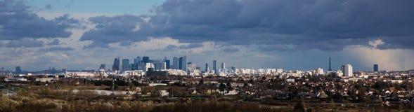 Ansicht von Paris von St- Germainen-laye castel lizenzfreie stockbilder