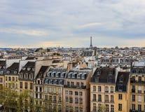 Ansicht von Paris-Stadt von der Mitte von Pompidou im Frühjahr frankreich April 2019 stockbilder