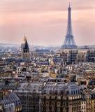 Ansicht von Paris und des Eiffelturms von oben Lizenzfreie Stockbilder