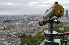 Ansicht von Paris und von Teleskop Stockbild