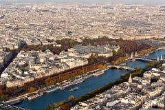 Ansicht von Paris vom Eiffelturm Lizenzfreie Stockfotografie