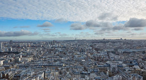 Ansicht von Paris von der Spitze Stockfotos