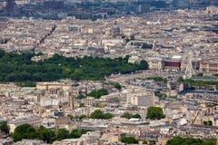 Ansicht von Paris von oben Stockbild