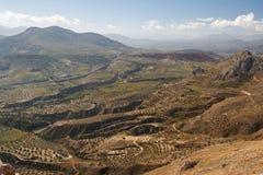 Ansicht von Peloponnes-Hügeln Stockfotografie