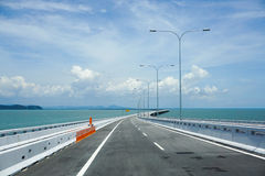 Ansicht von Penang-Brücke, Malaysia Stockfotografie