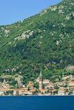 Ansicht von Perast, Montenegro Stockfoto