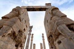Ansicht von Persepolis in Nord-Shiraz, der Iran Lizenzfreie Stockfotos