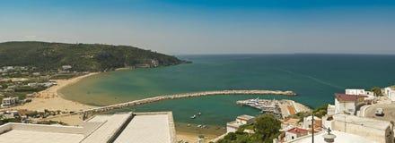 Ansicht von peschici, apulia, Landschaft, Panorama Lizenzfreie Stockfotos