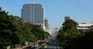 Ansicht von Phayathai Rd in Bangkok lizenzfreie stockfotografie
