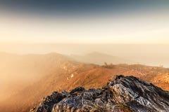Ansicht von Phu Chi-Fa bei Chiang Rai, Thailand Lizenzfreies Stockbild
