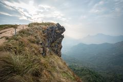 Ansicht von Phu-Chi-Fa morgens in Chiang Rai, Thailand stockfotografie