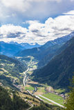 Ansicht von Piora-Tal in Tessin Lizenzfreies Stockfoto