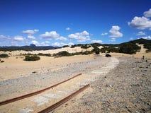 Ansicht von Piscinas-Düne in Sardinien, eine natürliche Wüste Lizenzfreies Stockbild