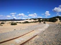 Ansicht von Piscinas-Düne in Sardinien, eine natürliche Wüste Lizenzfreie Stockfotos