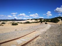 Ansicht von Piscinas-Düne in Sardinien, eine natürliche Wüste Stockfotos