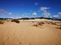 Ansicht von Piscinas-Düne in Sardinien, eine natürliche Wüste Stockbilder