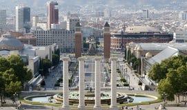 Ansicht von Placa Espanya lizenzfreies stockfoto