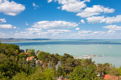Ansicht von Plattensee von Tihany in Ungarn Stockfotos