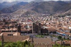Ansicht von Plaza de Armas, Cusco, Peru Lizenzfreie Stockfotos