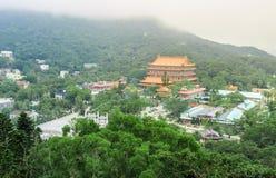 Ansicht von PO Lin Monastery Lizenzfreies Stockbild