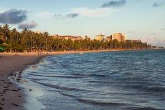 Ansicht von Ponta Verde Stockfotografie