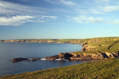 Ansicht von Portisaac, Nordcornwall. Lizenzfreie Stockfotos