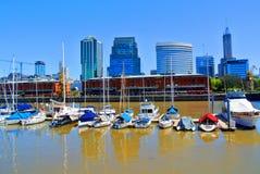 Ansicht von Porto Madero, Buenos Aires lizenzfreies stockfoto