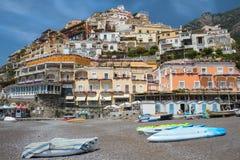 Ansicht von Positano, Amalfi-Küste, Kampanien-Region, Italien lizenzfreie stockbilder